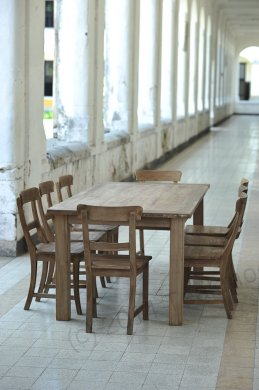 Teak table 200 x 100 cm reclaimed - Picture 16