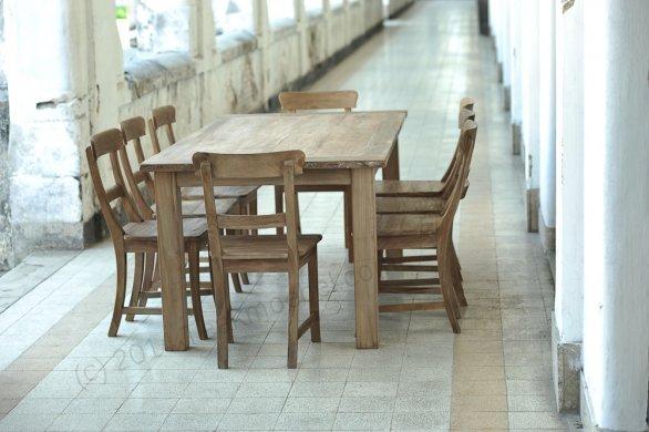 Teak table 200 x 100 cm reclaimed - Picture 0