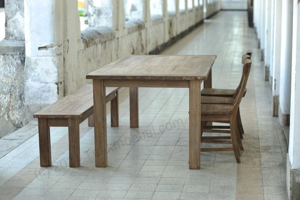 Teak table 200 x 100 cm reclaimed - Picture 2