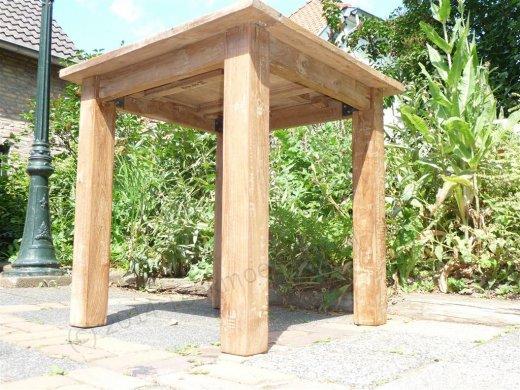 Teak table 80 x 80 cm reclaimed - Picture 4