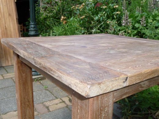 Teak table 80 x 80 cm reclaimed - Picture 6