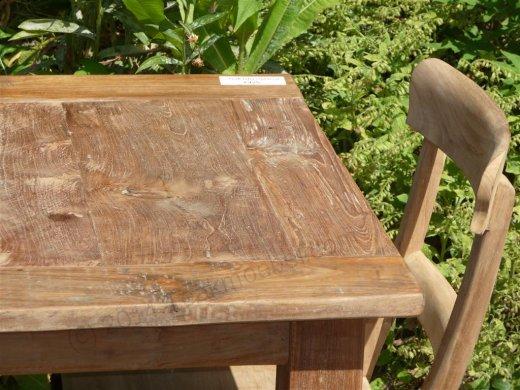 Teak table 80 x 80 cm reclaimed - Picture 12