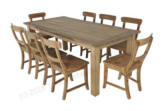 Teak table 200 x 100 cm reclaimed - Picture 5
