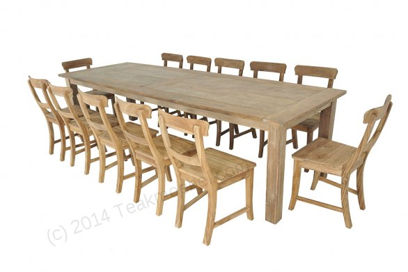 Teak table 300 x 100 cm reclaimed - Picture 2