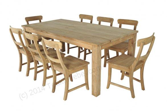 Teak table 200 x 100 cm - Picture 2