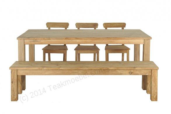 Teak table 200 x 100 cm - Picture 0