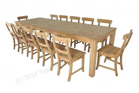 Teak table 300 x 100 cm - Picture 1