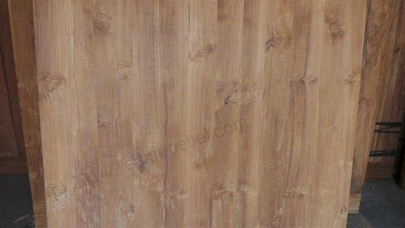 Square teak table 140x140 - Picture 1