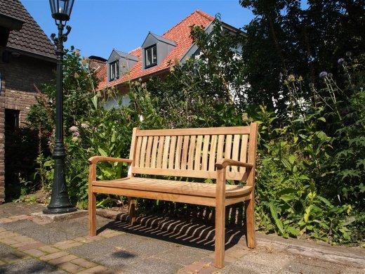 Teak garden bench 130 cm Beaufort - Picture 4