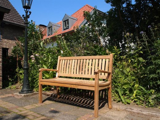 Teak garden bench 130 cm Beaufort - Picture 4