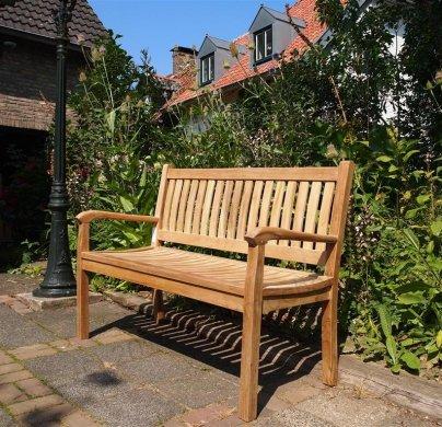 Teak garden bench 130 cm Beaufort - Picture 3