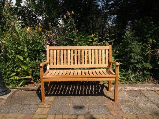 Teak garden bench 130 cm Beaufort - Picture 2