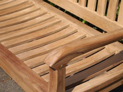 Teak garden bench 130 cm Beaufort - Picture 1
