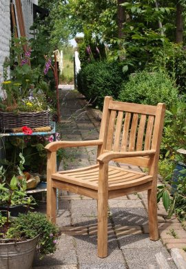 Teak garden chair Beaufort - Picture 4