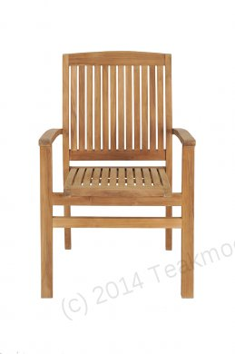 Teak garden chair stacking - Picture 14