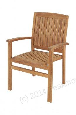 Teak garden chair stacking - Picture 13