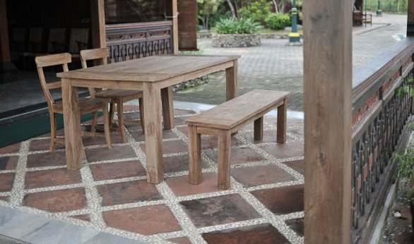 Teak garden table 160 x 90 cm - Picture 2