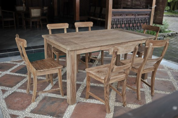 Teak garden table 160 x 90 cm - Picture 0