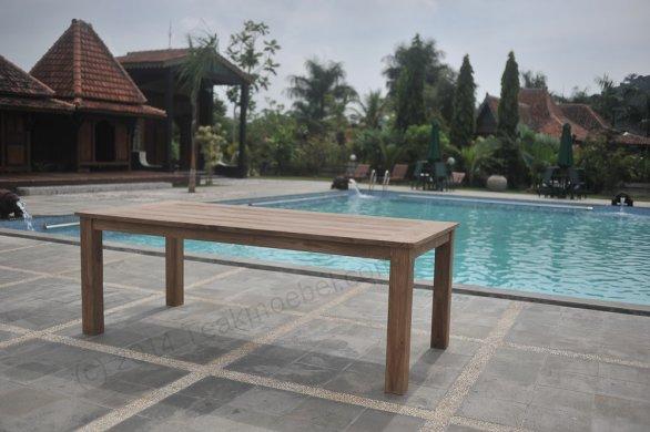 Teak garden table 200 x 100 cm - Picture 0
