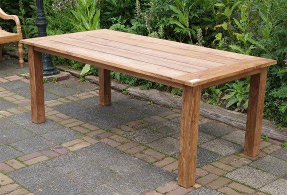 Teak garden table 200 x 100 cm - Picture 12