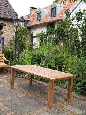 Teak garden table 200 x 100 cm - Picture 11