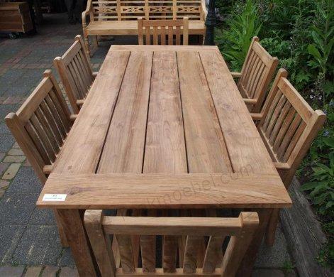 Teak garden table 200 x 100 cm - Picture 5