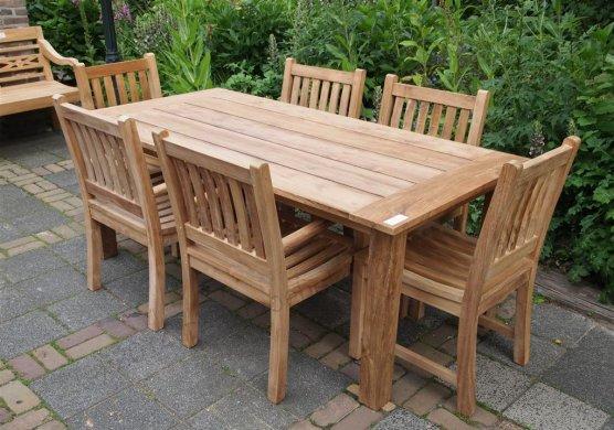 Teak garden table 200 x 100 cm - Picture 6