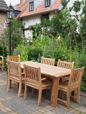 Teak garden table 200 x 100 cm - Picture 7