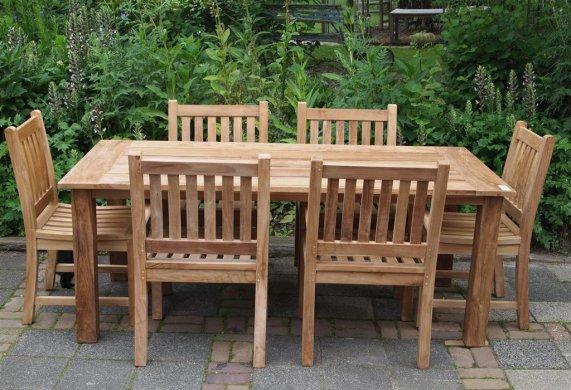 Teak garden table 200 x 100 cm - Picture 8