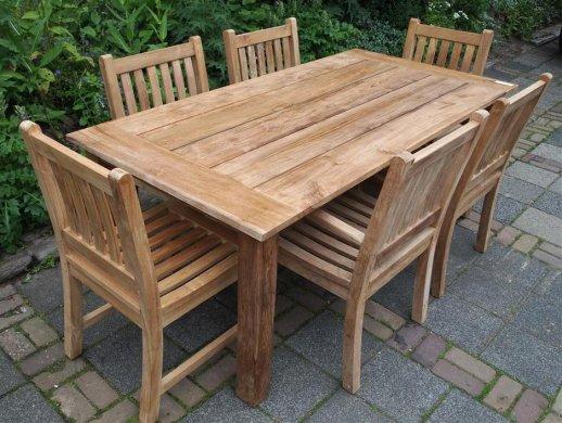 Teak garden table 200 x 100 cm - Picture 10