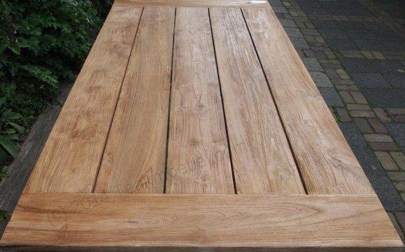 Teak garden table 200 x 100 cm - Picture 13