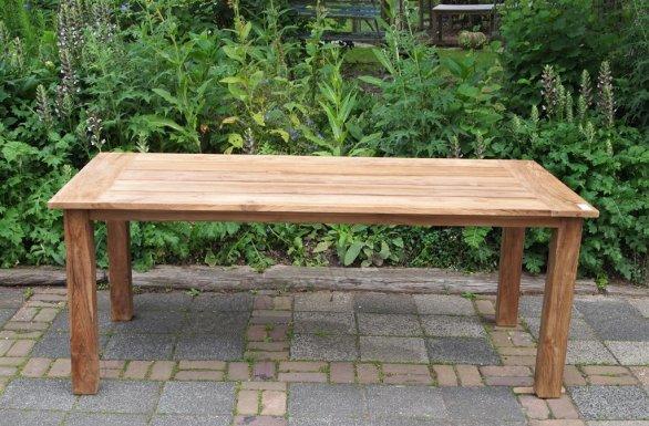 Teak garden table 200 x 100 cm - Picture 15