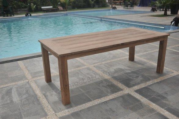 Teak garden table 220 x 100 cm - Picture 22