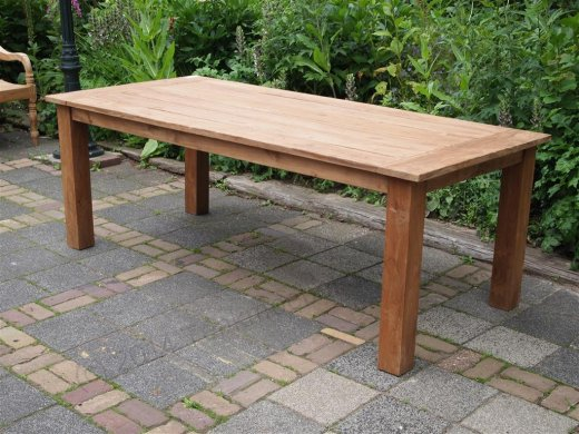 Teak garden table 220 x 100 cm - Picture 17