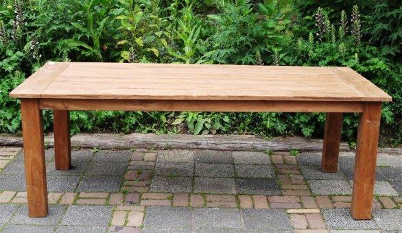 Teak garden table 220 x 100 cm - Picture 16