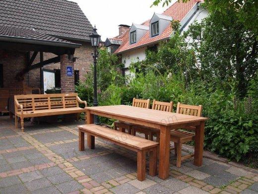 Teak garden table 220 x 100 cm - Picture 4