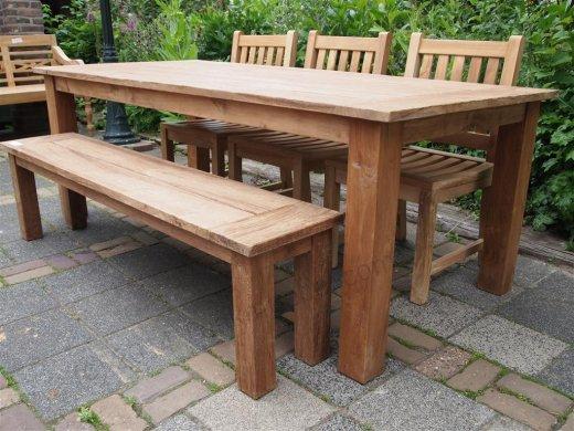 Teak garden table 220 x 100 cm - Picture 3