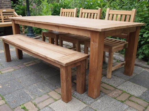 Teak garden table 220 x 100 cm - Picture 3