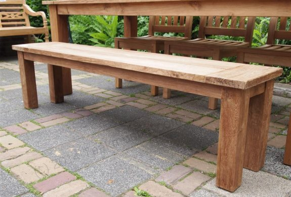 Teak garden table 220 x 100 cm - Picture 6