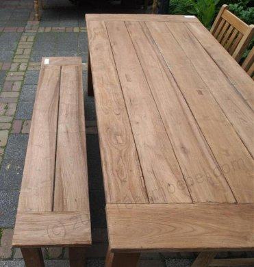 Teak garden table 220 x 100 cm - Picture 9