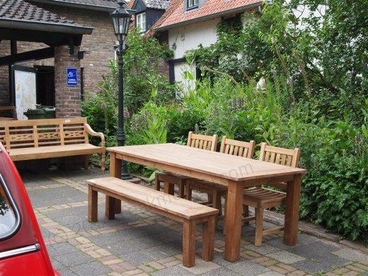 Teak garden table 220 x 100 cm - Picture 7