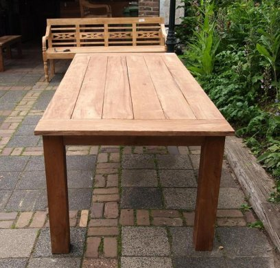 Teak garden table 220 x 100 cm - Picture 1