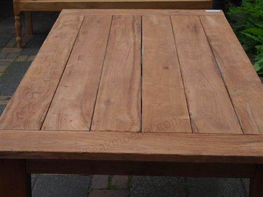 Teak garden table 220 x 100 cm - Picture 13