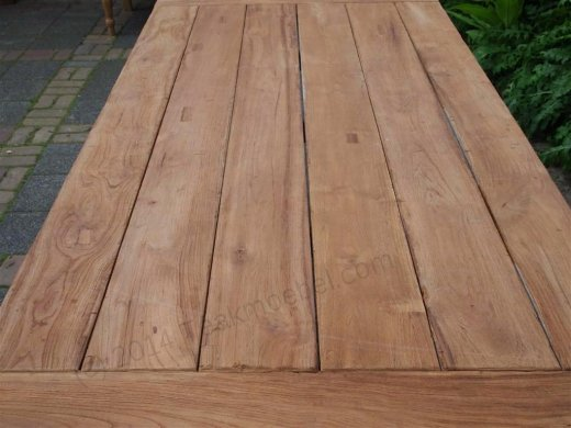 Teak garden table 220 x 100 cm - Picture 12