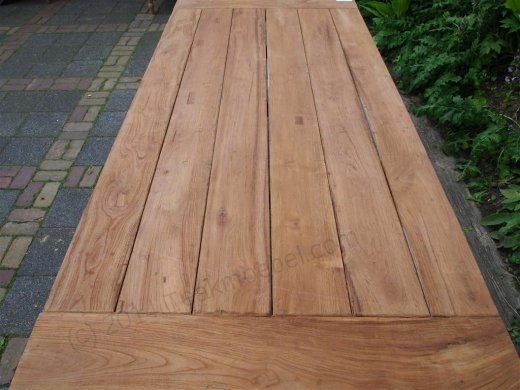 Teak garden table 220 x 100 cm - Picture 14