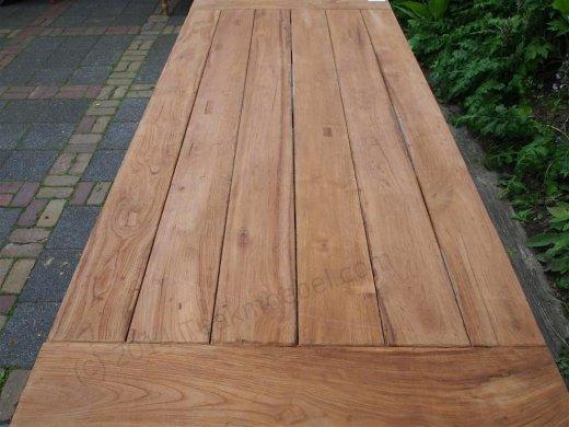 Teak garden table 220 x 100 cm - Picture 14