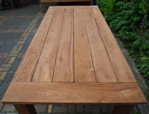 Teak garden table 220 x 100 cm - Picture 15