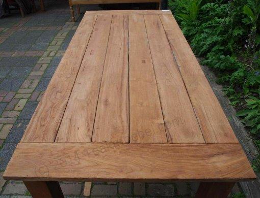 Teak garden table 220 x 100 cm - Picture 15