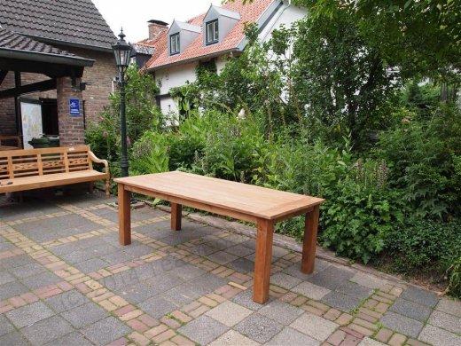 Teak garden table 220 x 100 cm - Picture 18