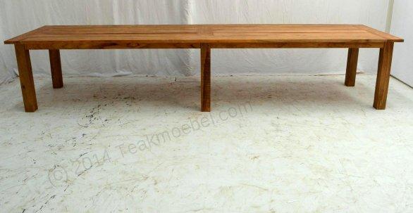 Teak garden table 400 x 100 - Picture 1